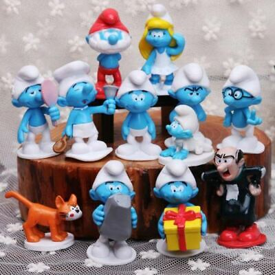 Smurfs The Lost Village Cake Toppers 12 Figures And Free Gift Uk Seller