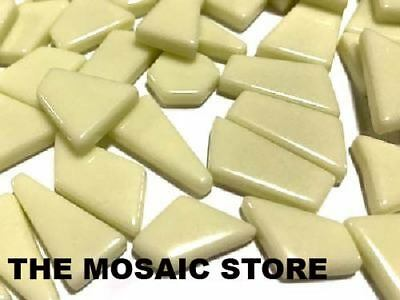 Cream Irregular Gloss Glass Tiles | Mosaic Art Craft Art Supplies