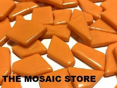 Orange Irregular Gloss Glass Tiles | Mosaic Tiles Supplies Art Craft