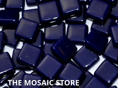 Royal Blue Gloss Glass Tiles 1cm for Mosaic Art & Craft - Mosaic Tile & Supplies