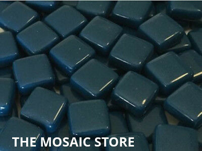 Ocean Blue Gloss Glass Tiles 1cm for Mosaic Art & Craft - Mosaic Tile & Supplies