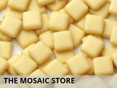 Dark Cream Gloss Glass Tiles 1cm - Mosaic Tiles Supplies Art Craft