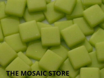 Lime Gloss Glass Tiles 1cm - Mosaic Tiles Art & Craft Supplies