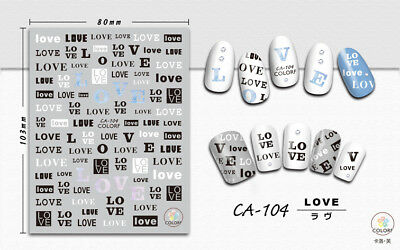 Assorted Letter Nail Art Transfer Stickers Decals Decoration Love Heart Tips