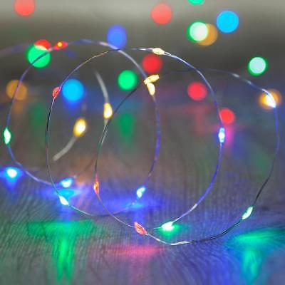 20/30/50 LED Batter Fairy String Lights Micro Rice Wire Copper Party Multi