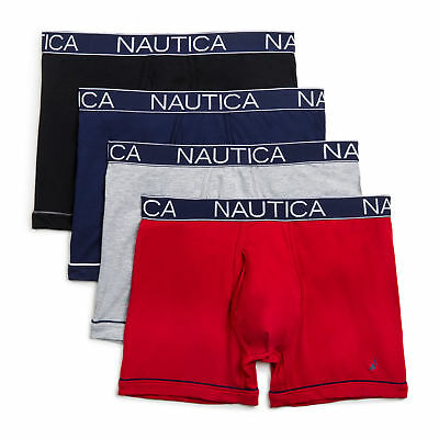 Nautica Mens Performance Boxer Briefs, 4-Pack
