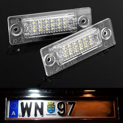 LED Licence Number Plate Light For VW Caddy Jetta 3 Transporter T5 MK5 Touran