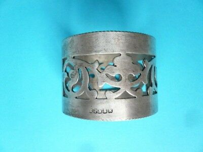 vintage silver plated napkin ring EPNS, pretty latticework pattern