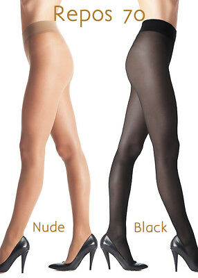 7ceac37ed4 Oroblu Repos 70 Support Tights, Made in Italy, Cacao Lycra Pantyhose, Size  Med