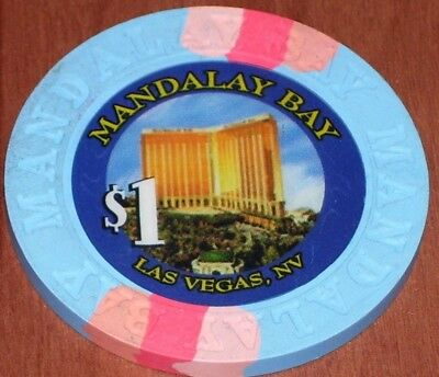 $1 1st EDITION GAMING CHIP FROM THE MANDALAY BAY CASINO IN LAS VEGAS