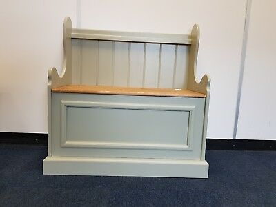 3ft Painted Church pew Monks bench Settle storage ottoman MADE TO ORDER!