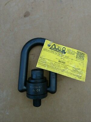 "ADB 33714 Heavy Duty Swivel Hoist Ring - 5000 lbs, 3/4"", Black Oxide"