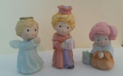 Vintage AVON 1986 Source of Fine Collectibles Kid Angel Gift Christmas Figurines
