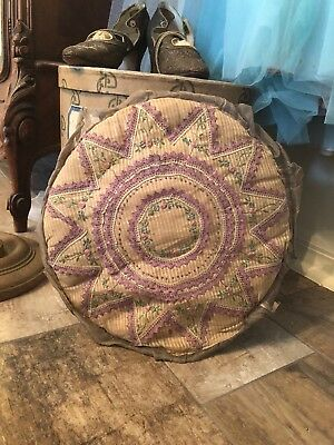 Antique Lace Pillow French Lilac Rosebud Flapper Gatsby 1920s-1940s Boudoir