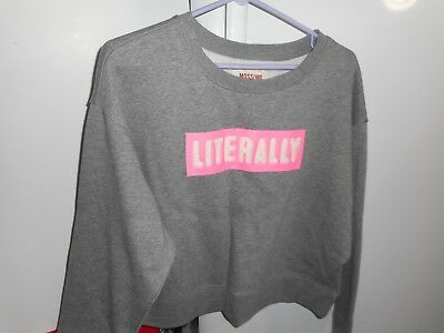 Mossimo Women Grey Long sleeve Sweatshirt Cropped LITERALLY  NWT Sz XL