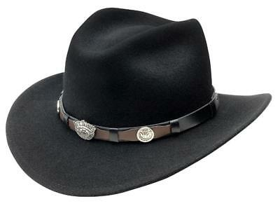 f72fff87c94 ... Henschel Hats OUTBACK Rustic CRUSHABLE Leather Western Cowboy Hat.