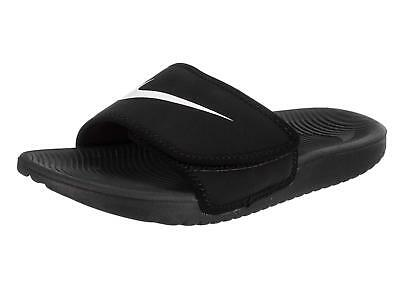 15f9ab087 NIKE Boy s Kawa Adjust Slide Sandal (GS PS) Black White Size 13