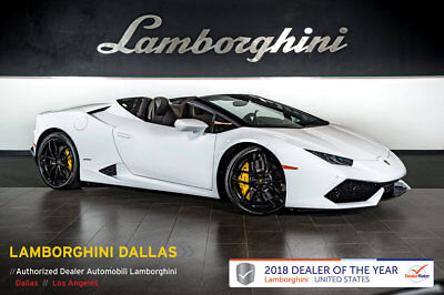 Lamborghini Huracan Spyder  303K MSRP+NAV+RR CAM+CCB+UNICOLOR SPORTIVO+LIFT SYS+SPORT EXHAUST+CRUISE CONTROL