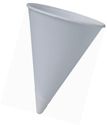 Cone Water Cups, Cold, Paper, 4oz, White, 200/Pack