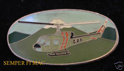 Uh-1 Huey Cdf Helicopter Lapel Pin Tie Tac Water Drop Cal Fire Smokey Bear Wow