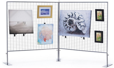 2 Panel Craft Fair Art Show Gallery Booth Countertop Grid Display Exhibit Stand