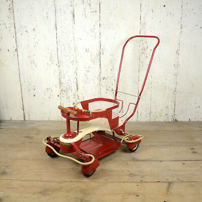 Red Taylor Tot Stroller Baby Carriage 1950's Air Stream Fenders