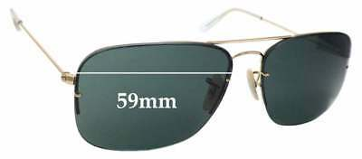 abcfa7e4b94 SFx Replacement Sunglass Lenses fits Ray Ban RB3482 Flipout - 59mm wide