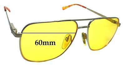 7d7eeb8330 SFx Replacement Sunglass Lenses fits Seiko Vintage T301 Titanium - 60mm wide