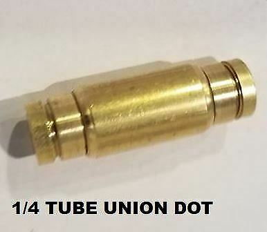 Brass Fittings Quick Connect Dot  1/4 Tube Union For Air Brake Fittings