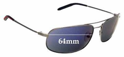 SFX Replacement Sunglass Lenses fits Mosley Tribes Navigator Aviator 64mm Wide