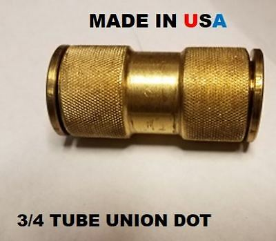 Brass Fittings Quick Connect Dot  3/4 Tube Union For Air Brake Fittings