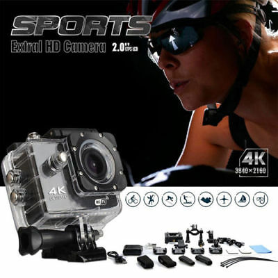 "Action Camera Ultra 4K 1080p WiFi 2.0"" Waterproof Helmet Camera Sport AS Go/Pro"