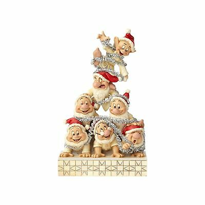 Disney Traditions Jim Shore Christmas White Woodland Seven Dwarfs New with Box