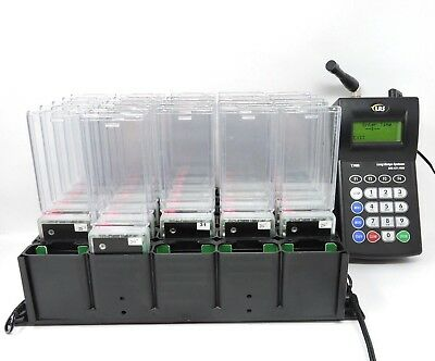 LRS Paging System Transmitter LRS T7400 W/ 26 LRS Star Pagers PLEASE READ Below