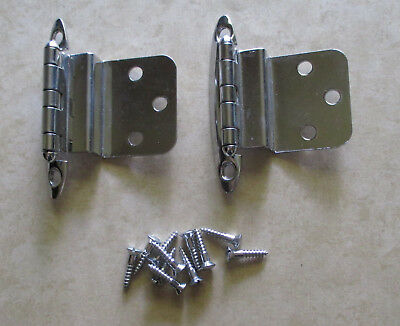 "Vintage 3/8"" offset hinges chrome plated semi concealed"