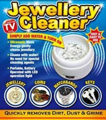 Ultraso Jewellery Cleaner Bath Compact Ring Watch Dentures Coin Gold Cleaning
