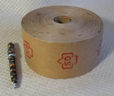 Super Rare GIRL SCOUTS vintage roll GS PACKING TAPE, antique (Goldman Sachs :-)