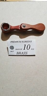 """1 Collectible 4"""" Tobacco Smoking Pipe With Pack Of 10 Brass Screens"""