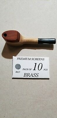 """1 Collectible 3"""" Tobacco Smoking Pipe With Pack Of 10 Brass Screens"""