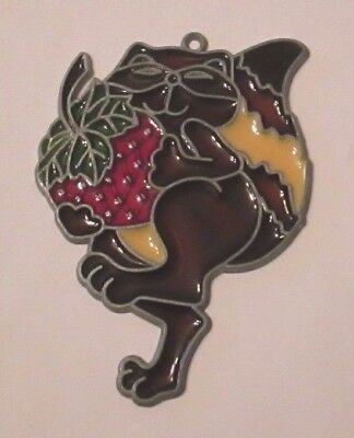 Raccoon With Strawberry Suncatcher (Animal Suncatchers)