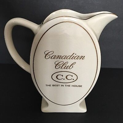 Vintage CANADIAN CLUB C.C. Whiskey Water Pitcher Best in the House WADE England