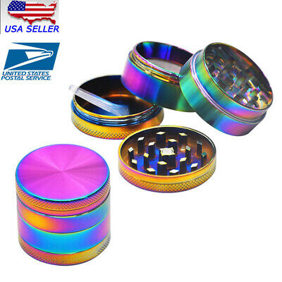 4 Piece Herb/Spice/Alloy Smoke Crusher 40mm Tobacco Grinder Colourful USA