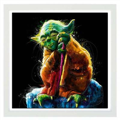 Master Yoda Oil Painting Modern Abstract On Canvas Unframed Huge Wall Art
