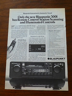 1980's old vintage BLAUPUNKT speakers radio car stereo audio print magazine ad