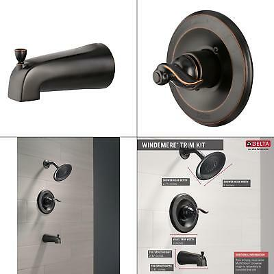 Delta Windemere 1 Handle Tub And Shower Faucet Trim Kit In Oil Rubbed Bronze
