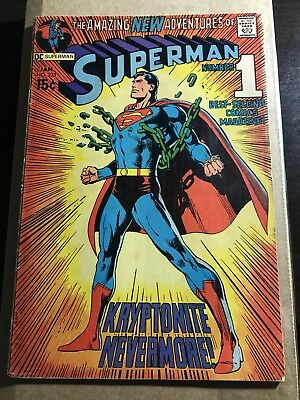 Superman #233 (Jan 1971, DC) Displays Nicely! Classic Cover Art