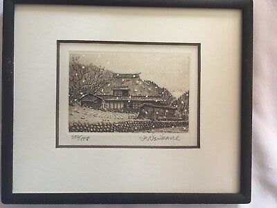 Norikane Hiroto 382/608? 808? Print Etching Engraving Signed Numbered preowned