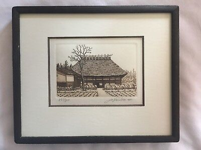 Norikane Hiroto 245/500  Print Etching Engraving Signed & Numbered preowned