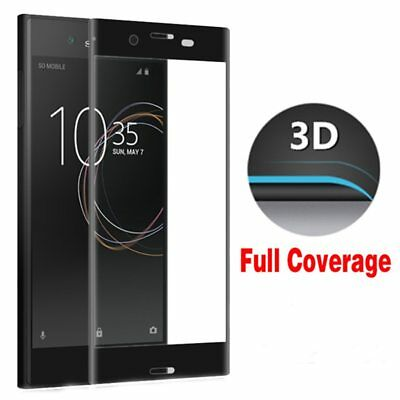 3D 5D Full Curved Tempered Glass Screen Protector For Sony Xperia XA XZ Compact