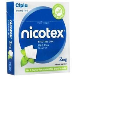 Cipla Nicotex Nicotine Gum | 9x10 Pieces Mint  2mg | Quit Smoking